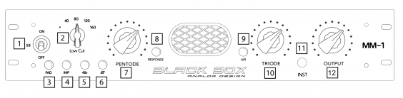 Black Box Analog Design MM-1 PRE/D.I.